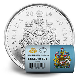 50-cent Special Wrap Circulation Roll 2014 (Royal Canadian Mint)