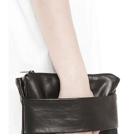 Rad Hourani - Unisex Leather Foldover Clutch