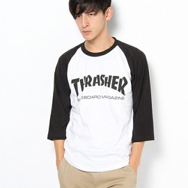 THRASHER - other chapter select(アザーチャプターセレクト)のTHRASHER MAG LOGO 七分丈Tee(Tシャツ・カットソー)|ホワイト