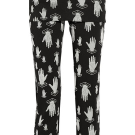 OPENING CEREMONY - Flocked cotton-blend straight-leg pants
