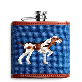 Brooks Brothers - Duck Hunting Needlepoint Flask Blue