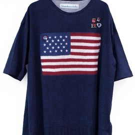 VOTE MAKE NEW CLOTHES - FLAG TEE-NAVY