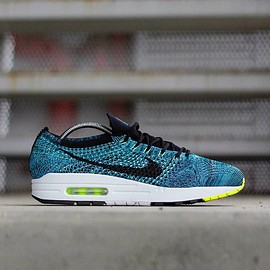 govrn_, NIKE - Flyknit Racer  x Air Max 1 - Turquoise/Volt