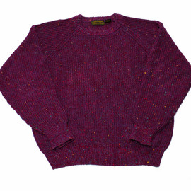 Eddie Bauer - Vintage 90s Eddie Bauer Maroon/Purple Knit Sweater Mens Size Large