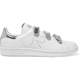 Adidas Originals - + Raf Simons Stan Smith Comfort perforated metallic-trimmed leather sneakers