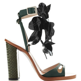 N°21 - Floral Leather and Snakeskin Sandals