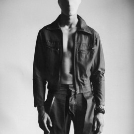 Maison Martin Margiela - A/W 1998 cotton recycled pants, turned inside out and re-tailored into multi-pocket chinos