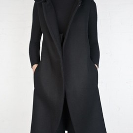 / - The perfect black coat.