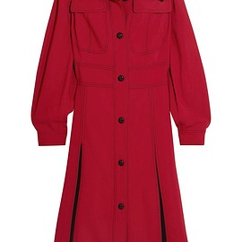 Burberry - Ribbed knit-trimmed crepe dress