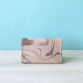 Bi-fold card holder/ Hand sewn & dyed