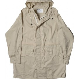 MARGARET HOWELL - MHL PARKA FLYWEIGHT PROOFED COTTON STONE