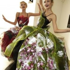 Dolce & Gabbana - backstage Lily Donaldson and Natasha Poly
