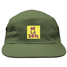 De La Soul - 3 Feet High & Rising 5 Panel Cap - Green/Yellow/Pink