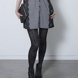 shoe lace tights