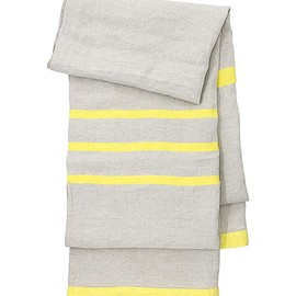 Lapuan Kankurit - USVA blanket | white-linen-yellow