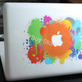 NoisyBoyStore - Colorful Apple Splash -- Apple Macbook Air Pro Decal Sticker Decals Stickers iPad iPhone