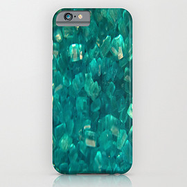 Society6 - Blue Sugar Crystals iPhone & iPod Case