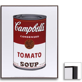 Andy Warhol - Soup Can Prints (Tomato) Dark Brown Frame