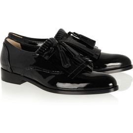 LANVIN - Mila fringed patent-leather loafers