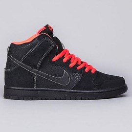 NIKE SB - NIKE SB DUNK HIGH BLACK/BLACK-ATOMIC RED-WHITE