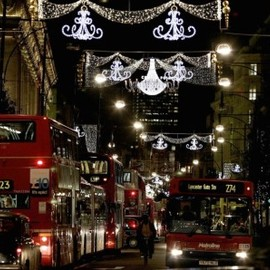 London - Oxford Street Christmas lights