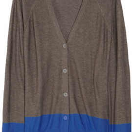 T by Alexander Wang - T by Alexander Wang /Color-block fine-knit cardigan