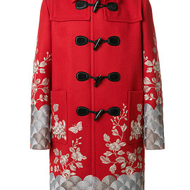 GUCCI - Embroidered twill coat
