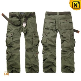 cwmalls - Army Green Cargo Pants Trousers for Men CW140285