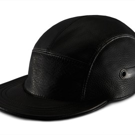 KILLSPENCER - Black Leather: 5 Panel Hat