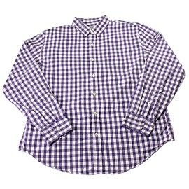 J.CREW - J.Crew Purple/White Check Print Button Down Shirt Mens Size XL