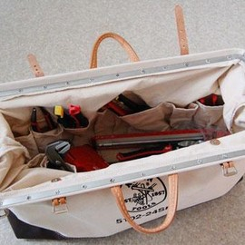 klein tools - klein deluxe canvas tool bag