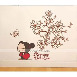 wallstickerdeal.com - Blooming With Love Flowergirl Wall Sticker