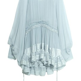 Chloé - Ruffled silk-mousseline dress