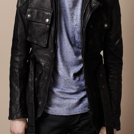 Burberry Brit - Washed Leather Motorcycle Jacket