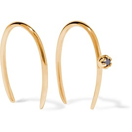 Sarah & Sebastian - Stone Aura 14-karat gold diamond earrings