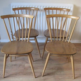 ERCOL - Swept-Back Chair