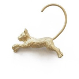 simmon - Jump Cat Earring (gold)