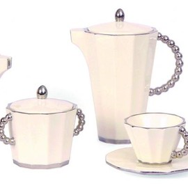 MODERNISTA - Pavel Janák - coffee set, 1911 white & silver