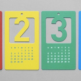 Cut Out Number Calender