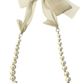 Adam et Rope - ribbon pearl necklace