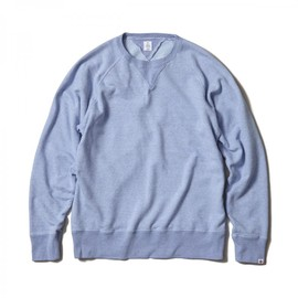 HEAD PORTER PLUS - PASTEL SWEAT SHIRT BLUE