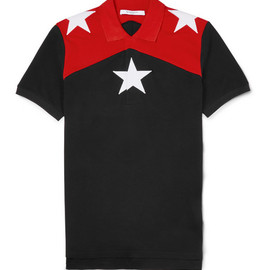 Givenchy - Cuban-Fit Star-Embroidered Cotton-Piqué Polo Shirt