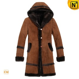 CWMALLS® Leather Down Coat with Hood CW806103