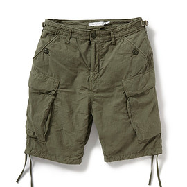 nonnative - TROOPER SHORTS COTTON RIPSTOP OVERDYED