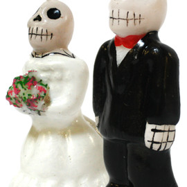 SOURPUSS CLOTHING - DAY OF THE DEAD WEDDING CANDLE