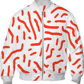 Print All Over Me - Red Squiggle Pattern