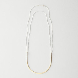 LILA RICE - LILA RICE Gold Two Way Arc Necklace