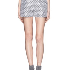 OPENING CEREMONY - Esther floral jacquard shorts