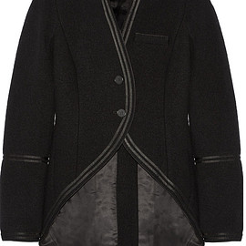 GIVENCHY - Jacket in satin-trimmed black wool