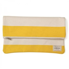"HEAD PORTER - ""BRIGHTON"" CLUTCH BAG YELLOW"
